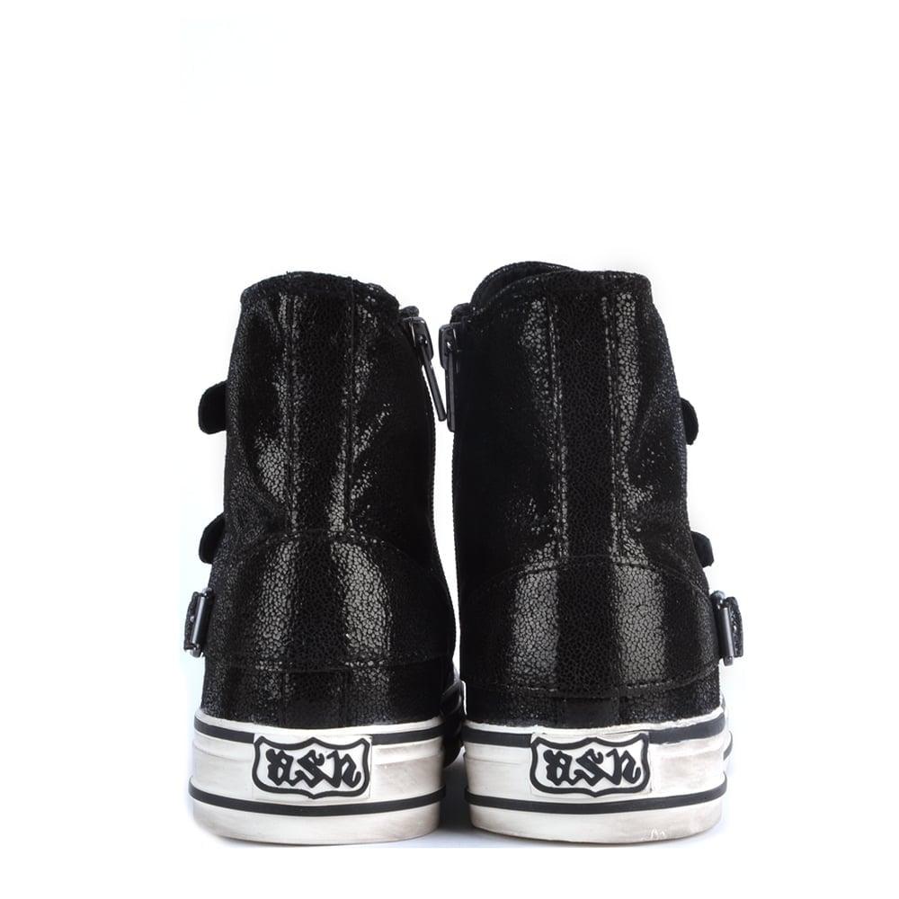 979f183bcb43 Ash Footwear Virgin Black Glitter Buckle Trainer - Shop Online Now