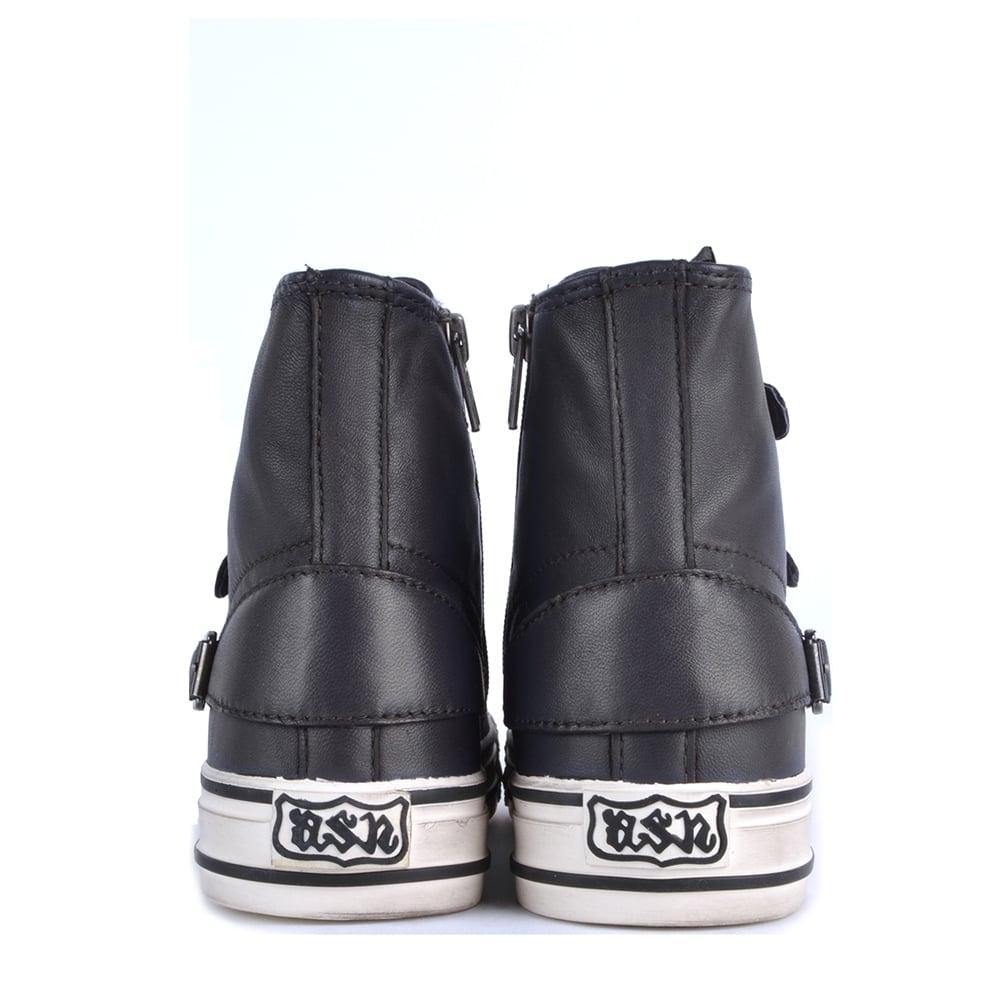 cbb625e47a73 Ash Footwear Virgin Graphite Leather Buckle Trainer - Shop Online Now