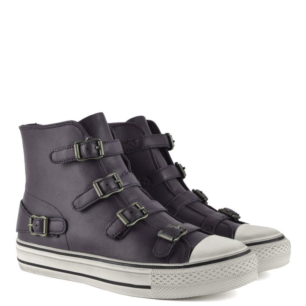Ash Virgin Graphite Leather High Top