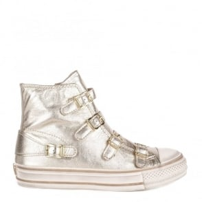 Ash Footwear Virgin Platine 'Gold' Leather Buckle Trainer