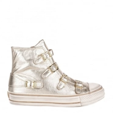 Virgin Platine 'Gold' Leather Buckle Trainer