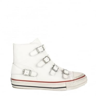 Virgin White Buckle Trainer