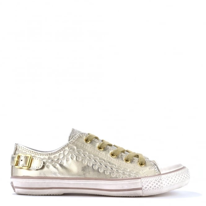 Ash Footwear Virgo Gold Leather Trainer