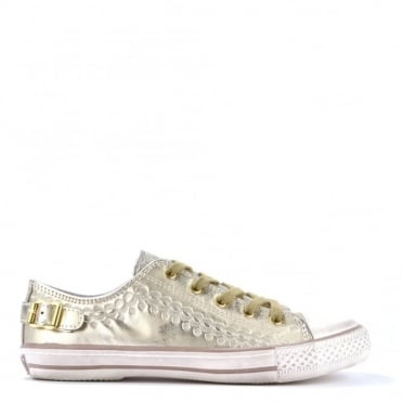 Virgo Gold Leather Trainer
