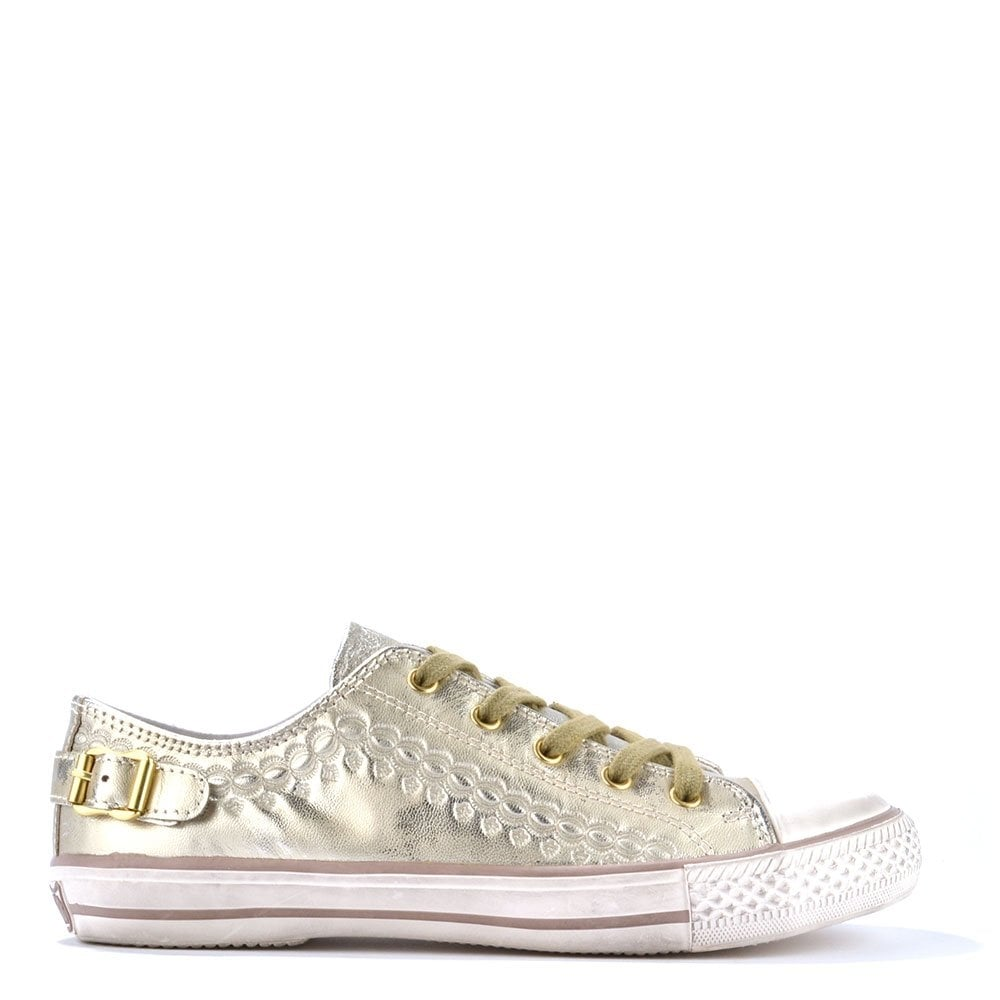 Ash Virgo Gold Leather Trainers