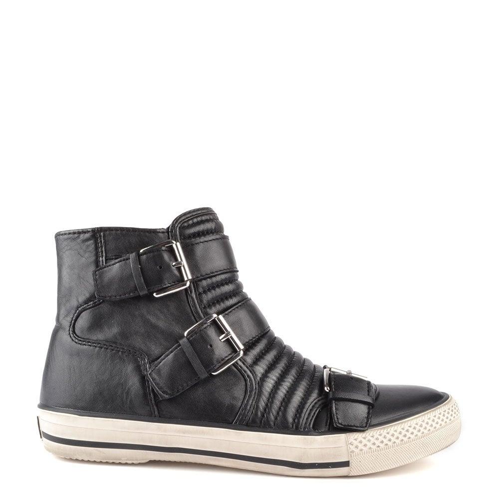 5917a0e29d803 Ash Footwear Volt Black Leather Trainer