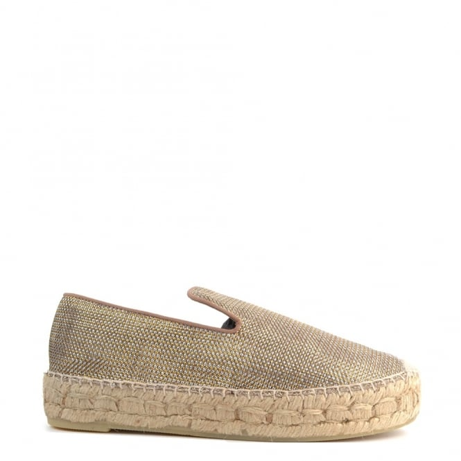 Ash Footwear Xem Gold and Silver Mesh Espadrille