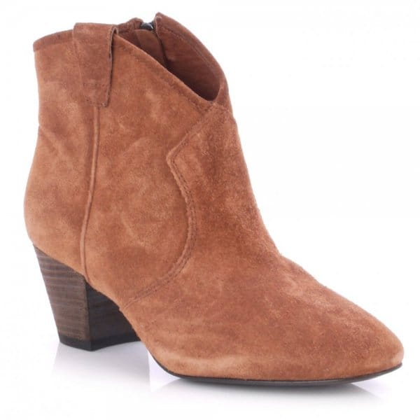 562dfc3e788dd Ash Footwear Spiral Rosewood Suede Western Style Ankle Boot - Women ...