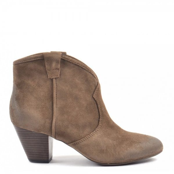 b7472c4180b Ash Footwear Spiral Topo Suede Western Style Ankle Boot