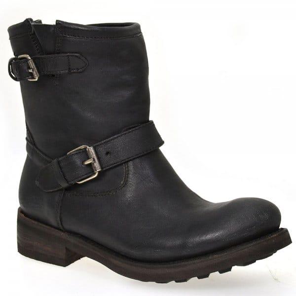 Ash Leather Black Ankle Boot Tears Biker Buy pF0Hnxwdqp
