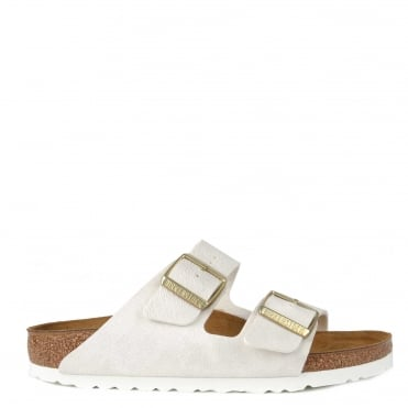 Arizona Animal Fascination White Two Strap Sandal