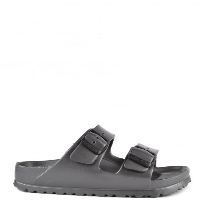 Birkenstock Arizona Anthracite Rubber Two Strap Sandal