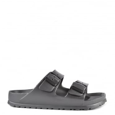 Arizona Anthracite Rubber Two Strap Sandal