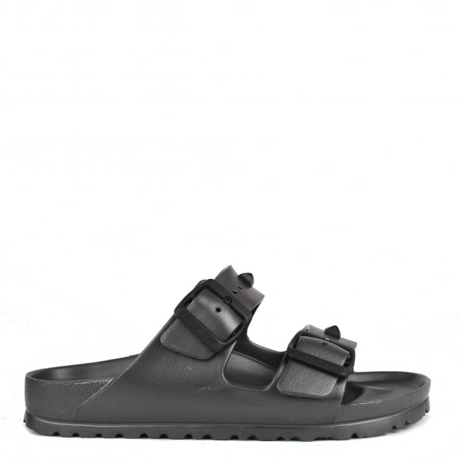 Birkenstock Arizona Anthracite Studded Rubber Thong Sandal