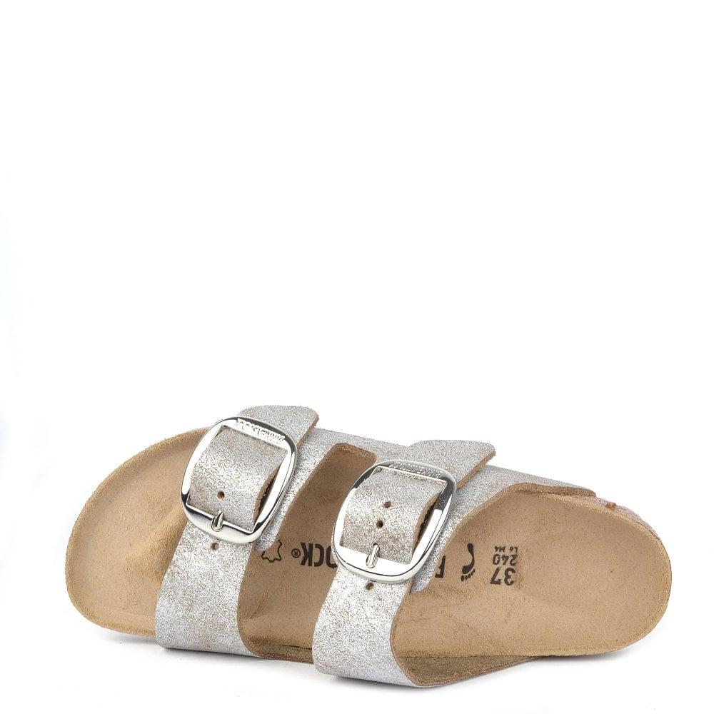 180d88158e0f Birkenstock Arizona Big Buckle Washed Metallic Blue Silver Sandal ...