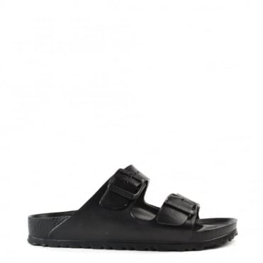 Arizona Black Rubber Two Strap Sandal