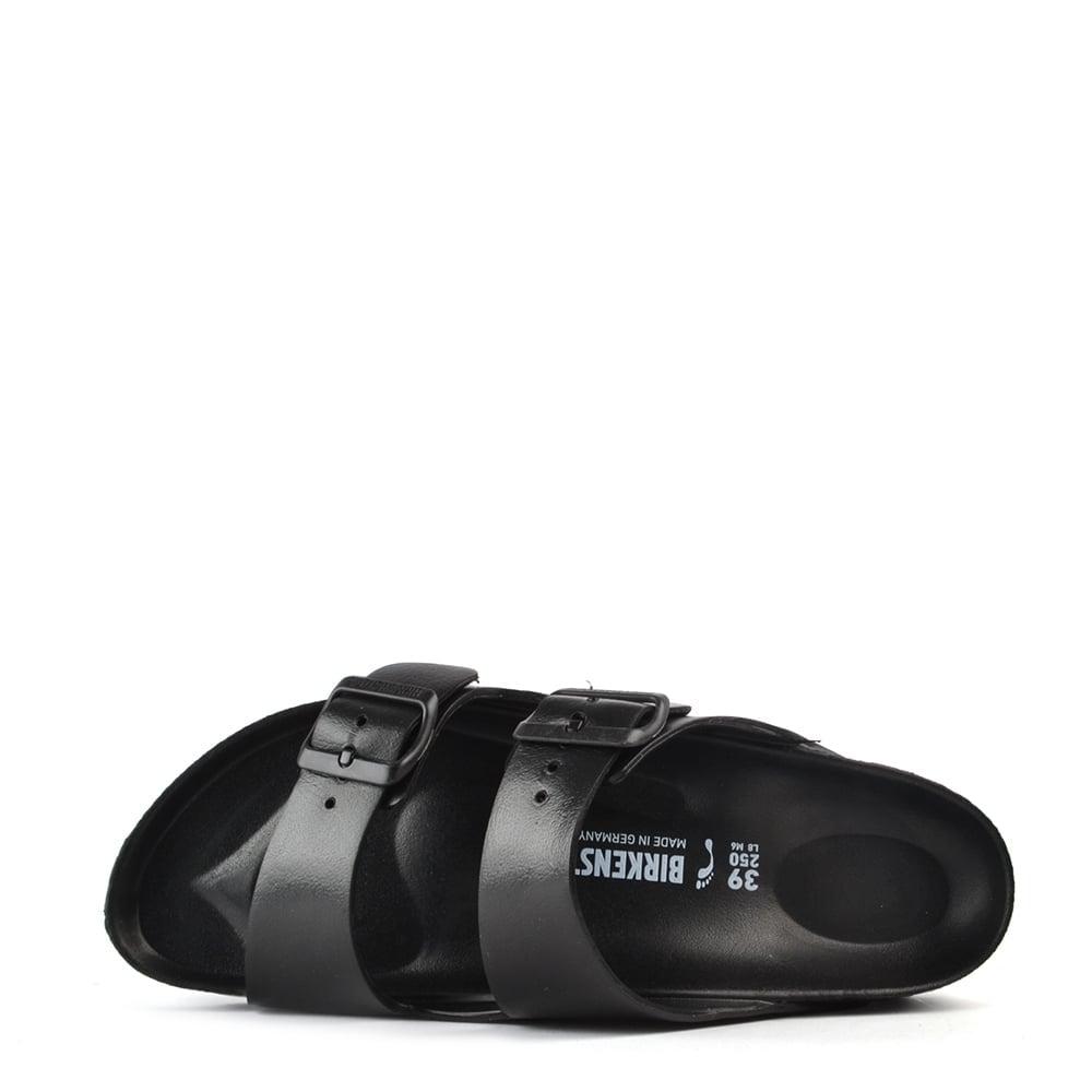 best authentic new styles buy online Birkenstock Arizona Black Rubber Two Strap Sandal