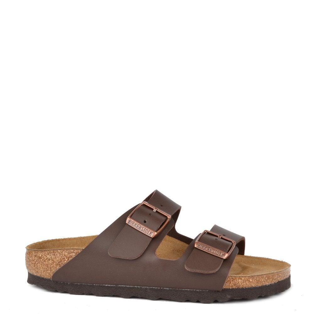 2b1a0849d29c Birkenstock Arizona Dark Brown Birko Flor Two Strap Sandal
