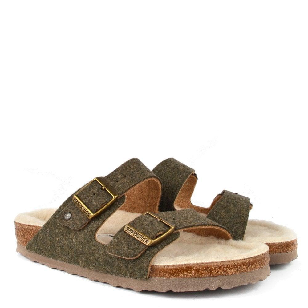 1872d9c7cff5 Arizona Doubleface Khaki Wool Two Strap Sandal