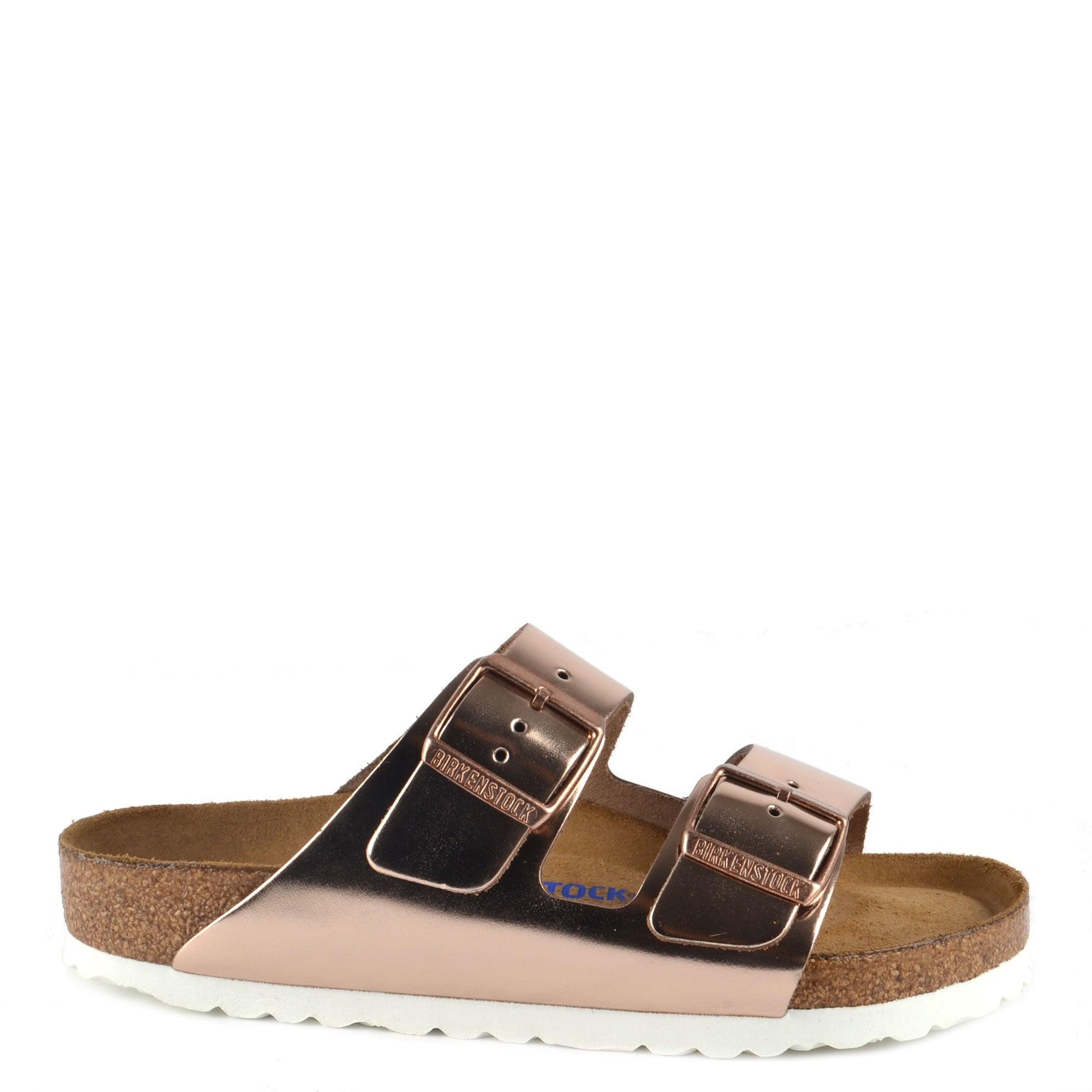 vänster Vänja Snälla du  Birkenstock Arizona Metallic Copper Soft Footbed Regular Fit Sandal