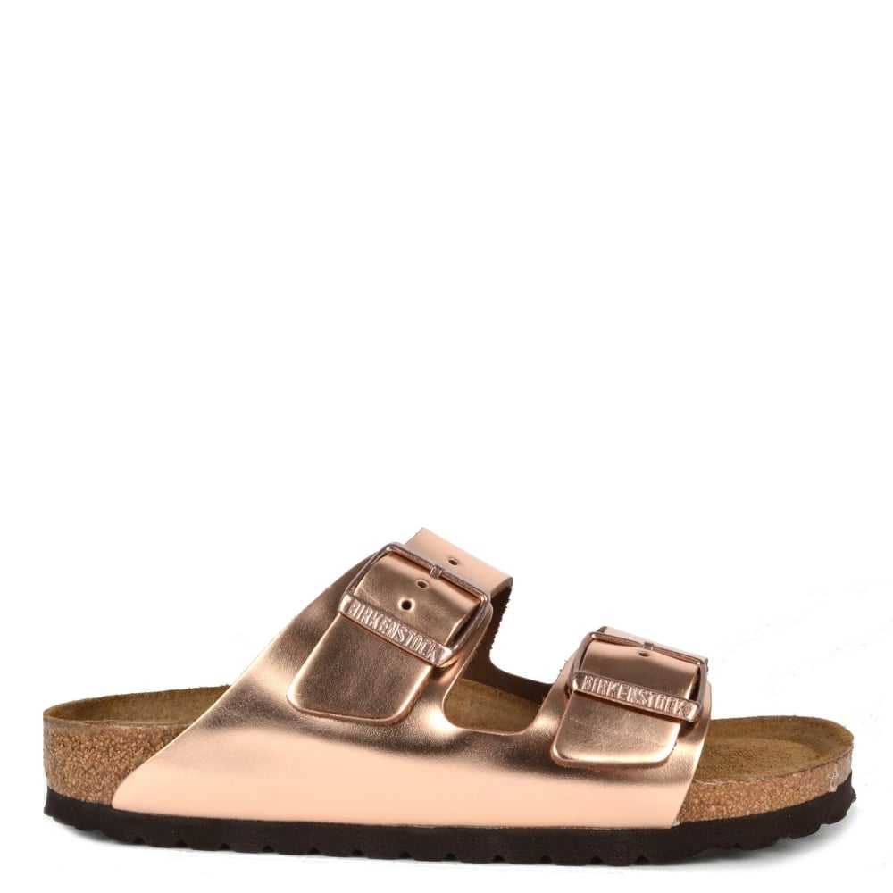 dc827ffcde9 Birkenstock Arizona Metallic Copper Soft Footbed Sandal