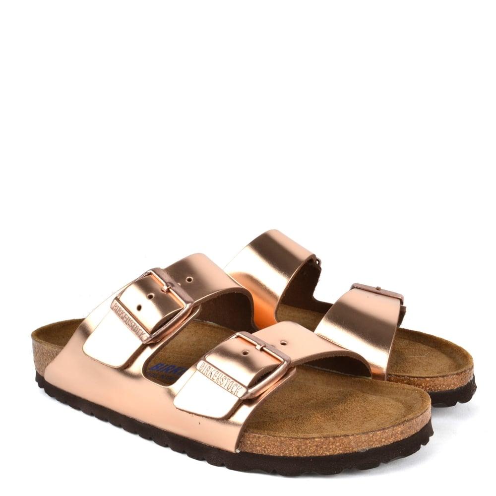 26e094f0160a Birkenstock Arizona Metallic Copper Soft Footbed Sandal