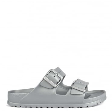 Arizona Metallic Silver Rubber Two Strap Sandal