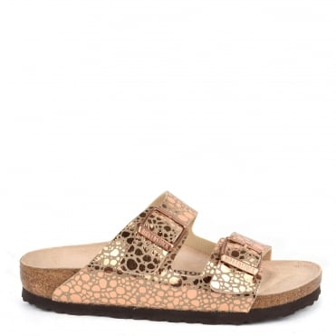 Arizona Metallic Stones Copper Two Strap Sandal