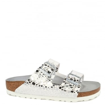 Arizona Metallic Stones Silver Two Strap Sandal
