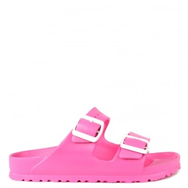 Arizona Neon Pink Rubber Two Strap Sandal