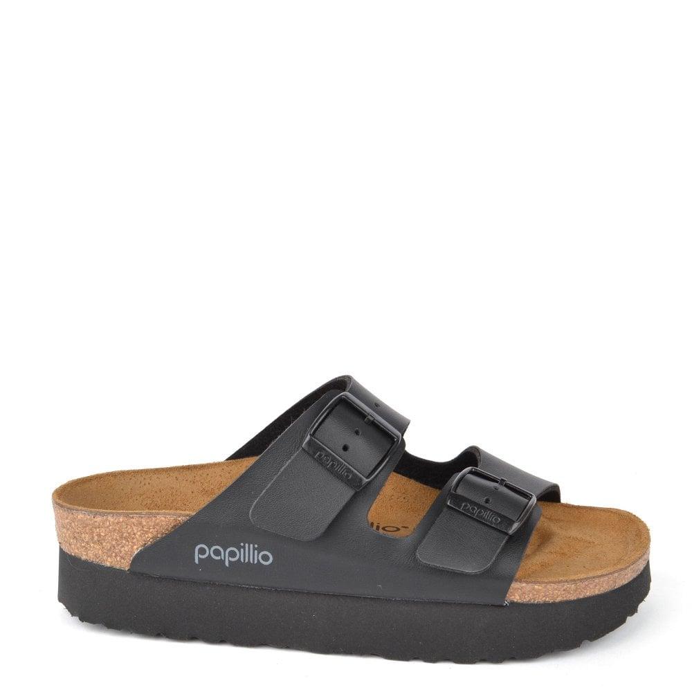 4a69bc44114 Birkenstock Arizona Papillio Black Platform Sandal