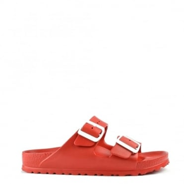 Arizona Red Rubber Two Strap Sandal