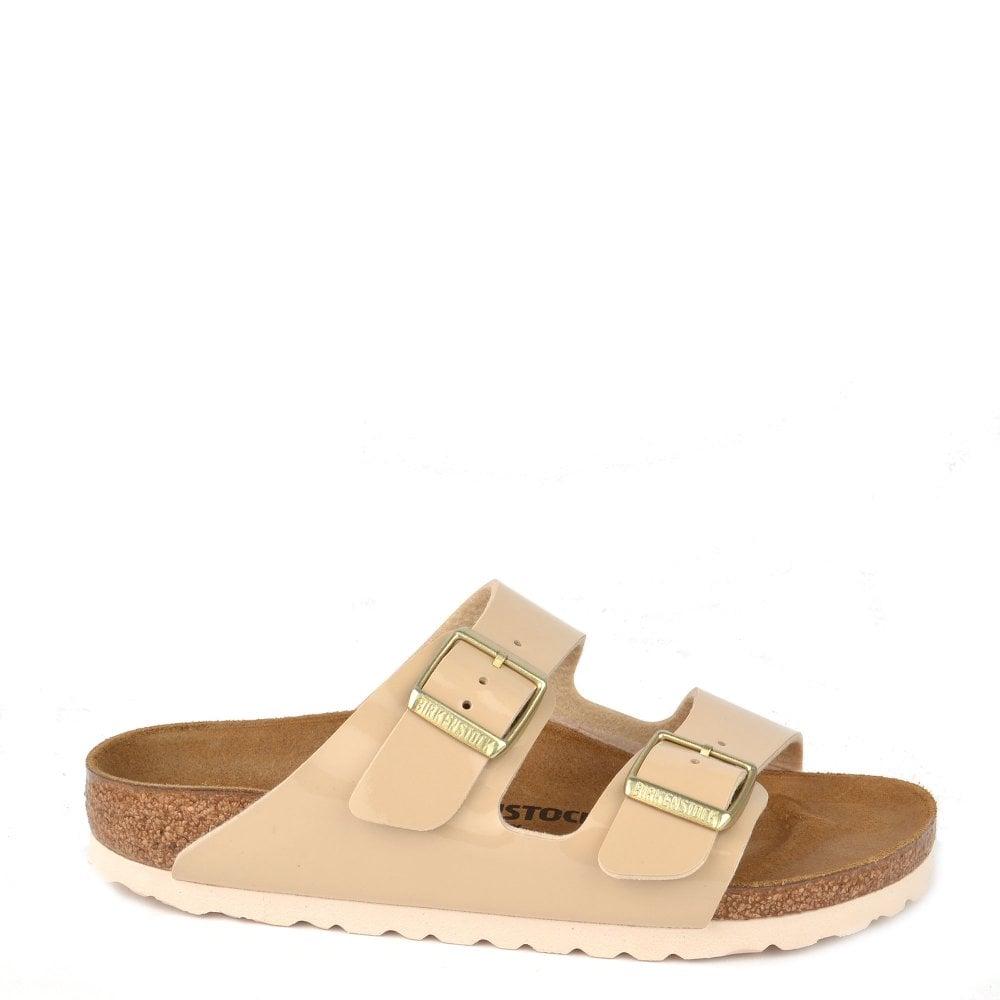 2052999ebe73 Birkenstock Arizona Sand Patent Two Strap Sandal
