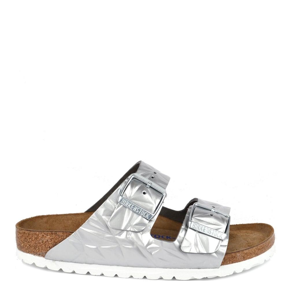 8f94c305e1fd Birkenstock Arizona Spectral Silver Soft Footbed Two Strap Sandal