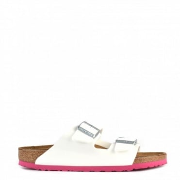 Arizona White Patent Two Strap Sandal