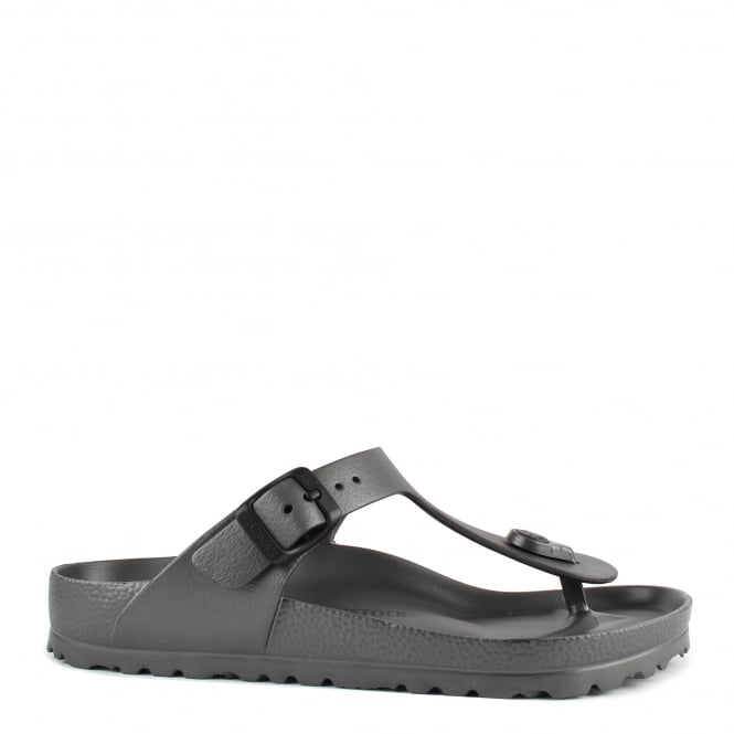 Birkenstock Gizeh Anthracite Rubber Thong Sandal