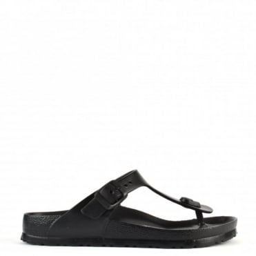 Gizeh Black Rubber Thong Sandal