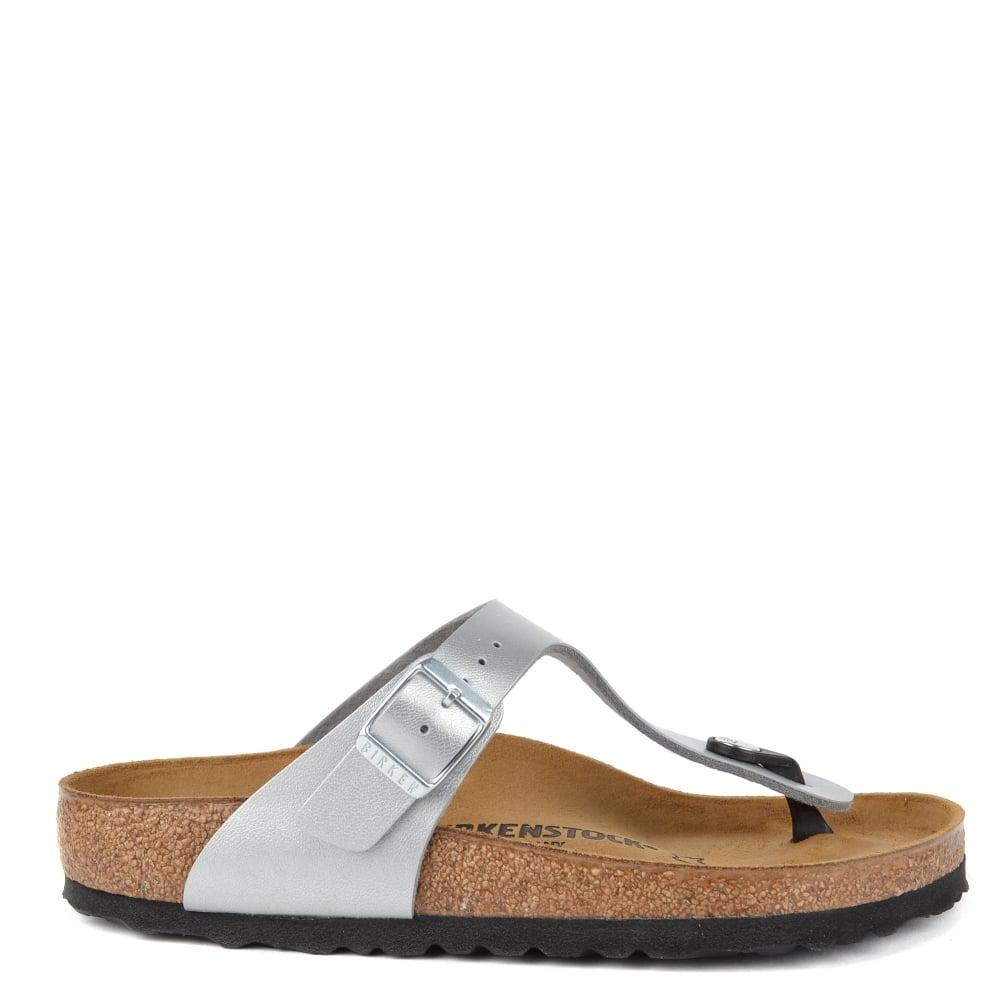 7999ecde235e Birkenstock Gizeh Graceful Silver Thong Sandal