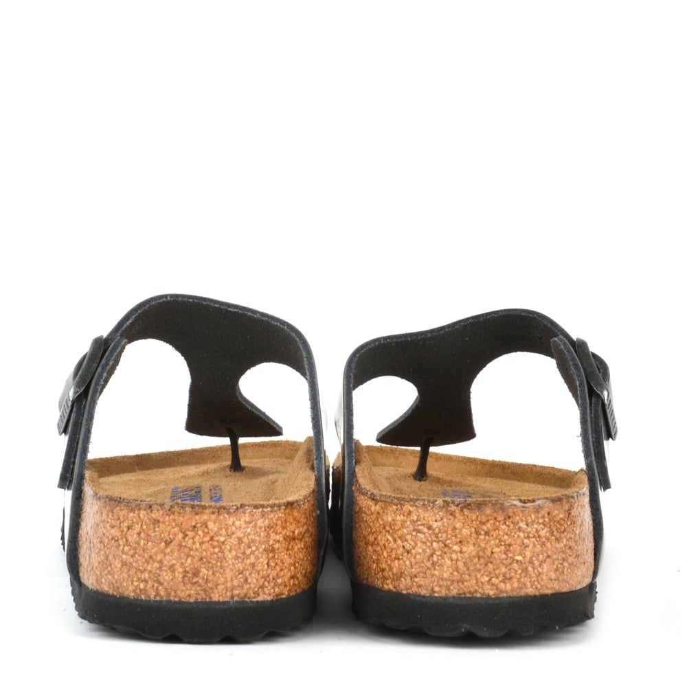 fc1b4162085 Gizeh Metallic Anthracite Soft Footbed Thong Sandal