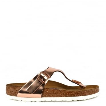 Gizeh Metallic Copper Soft Footbed Thong Sandal