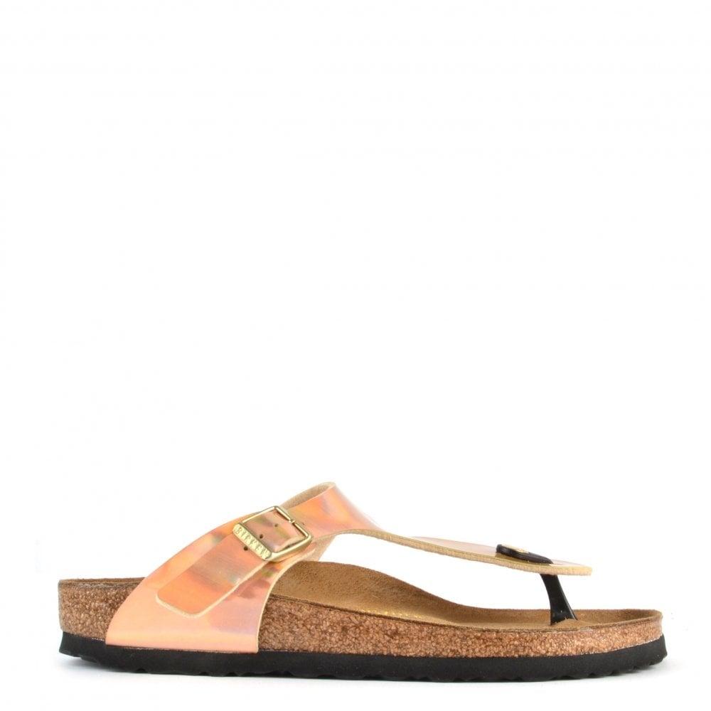 60be437aca476a Gizeh Mirror Rose Gold Thong Sandal at Brand Boudoir