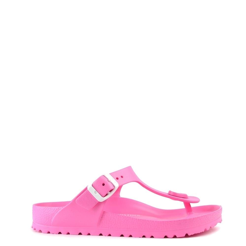 Birkenstock Gizeh Neon Pink Rubber Thong Sandal