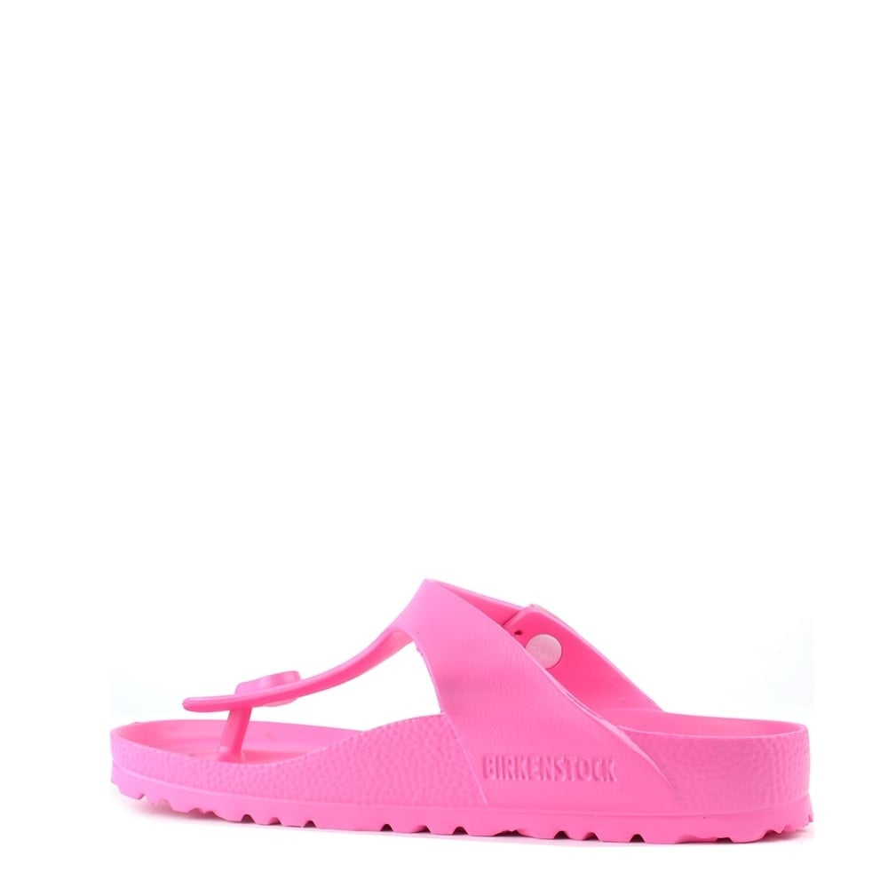 Hedendaags Birkenstock Gizeh Neon Pink Rubber Thong Sandal RB-78