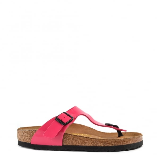 Birkenstock Gizeh Pink Patent Thong Sandal