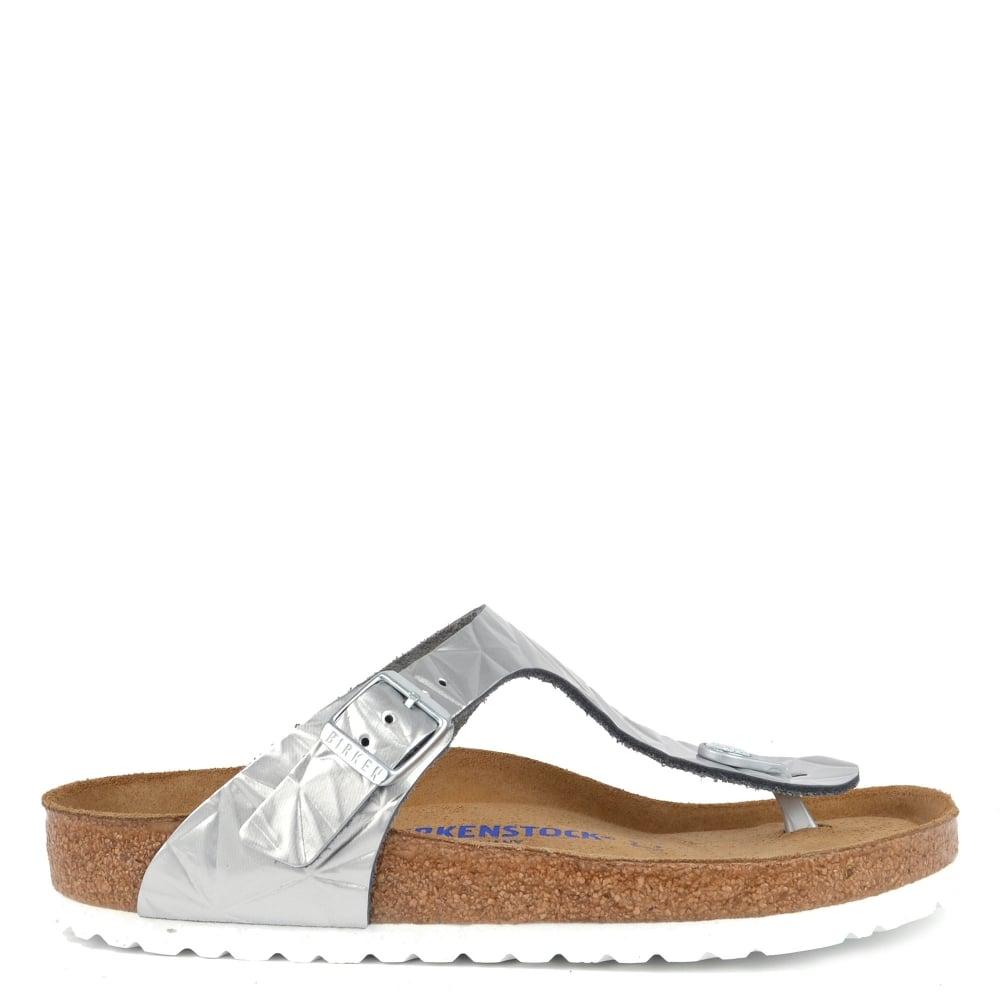 33e52879bc97 Birkenstock Gizeh Spectral Silver Soft Footbed Thong Sandal