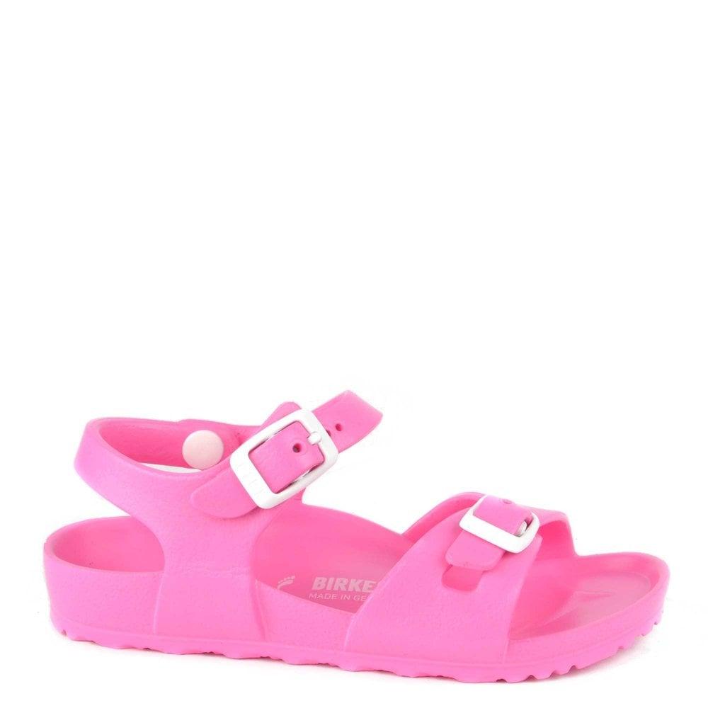 Sandal Rubber Pink Kids Neon Rio 3ARS4jqc5L