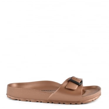 Madrid Copper Rubber Buckle Flat Sandal