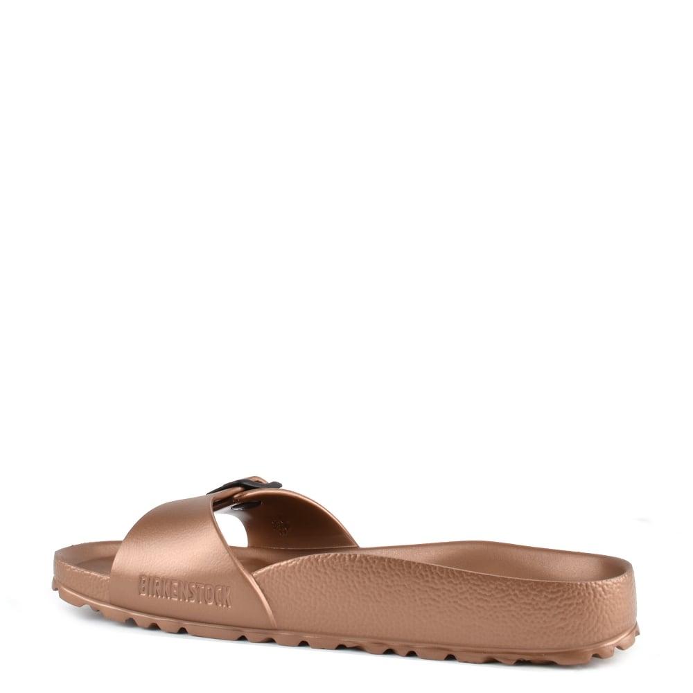 a4d5a954098 Birkenstock Madrid Copper Rubber Buckle Flat Sandal