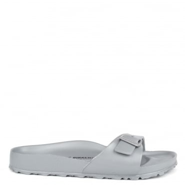 Madrid Metallic Silver Rubber Thong Sandal