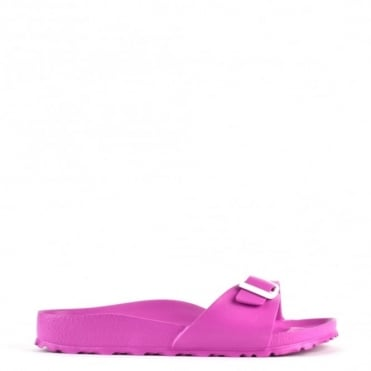 Madrid Pink Rubber Buckle Flat Sandal